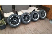 """4 x 15"""" multi fit panther racing wheels"""