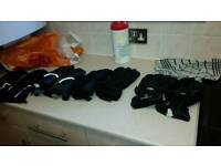 X4 motorcycle gloves great condition various types and sizes