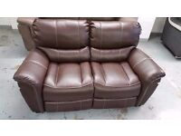 ScS SATURN ENDURANCE BRAND NEW BROWN 2 Seater Standard Sofa CAN DELIVER View/Collect Kirkby NG17