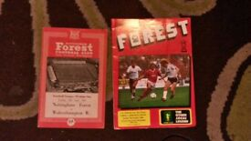 2 OLD NOTTS FOREST HOME MATCH PROGRAMMES
