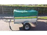 5 x 3 trailer complete with new wheels, soft cover and load bars