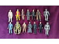 14 Doctor Who figures. Doctor 5 to 10, cybermen and others. 6 inches. Nice condition
