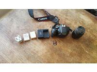 Canon 600d, 18-55mm Canon lens plus accessories