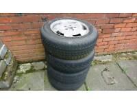 Set of 4 Mercedes C 200 aluminium wheels