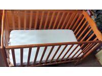 Child / Baby Wooden Cot + Mattress