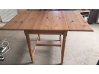 Ikea drop leaf table with two chairs