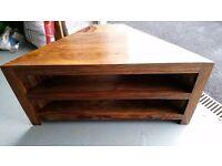 Sheesham Wood TV corner unit