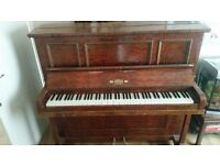 Hicks upright iron grand piano , lovely old piano full working order and in tune