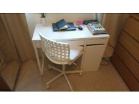 IKEA White Desk and Chair x 3