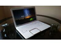 Beautiful White Toshiba Satellite L850 15.6'' Laptop 8GB RAM 640GB HDD with Windows 10