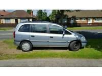 7 Seater Vauxhall Zafira 1.6 Long MOT 1 Owner