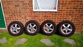 Dezent five spoke 16 inch alloy wheels + quality Vredestein Wintrac winter tyres 4 - 5mm tread