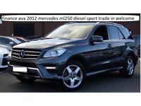 finance ava 2012 mercedes ml ml250 diesel sport trade in welcome