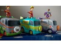 kids toy scooby doo mini machines with figure