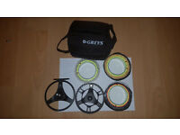 Used Greys GTS 500 7/8/9 Cassette fly reel with 3 spools and 3 GRXi lines ready to fish!