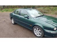 Jaguar x type 2.1 litre petrol. 2003. 89,000 miles . MANUAL. British Racing Green