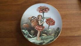 Flower Fairy Plate by Cicely Mary Barker - The Zinnia Fairy