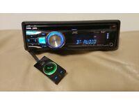 CAR HEAD UNIT JVC CD MP3 PLAYER WITH BLUETOOTH USB DAB RADIO RECEIVER AUX RCA 4X50W APLIFIER AMP BT