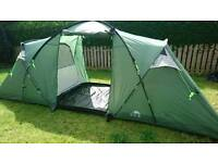 Trespass 6 Man Tunnel Tent 2 Room