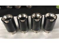 Carbon fibre exhaust tips M\\\ FOR BMW M2 M3 F87 F80 M4 F82 F83 M5 M6 F12 F12 X5M X6M UNIVERSAL