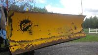 fisher snow blade converted for tractor