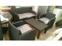 Garden sofas (lounge set) new order in dark gray