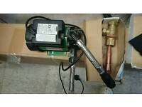 Water shower pump and tank connection