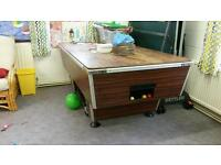 Pool table cues and balls used condition