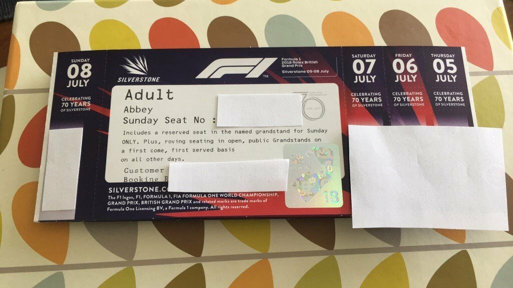 Silverstone British Grand Prix 2018 Tickets | in Sheffield, South ...