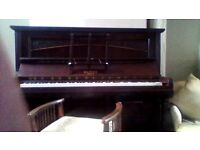 Binnie upright Piano and Piano Stool