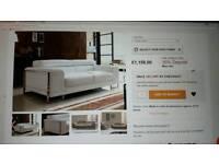 2 seater leather Italian sofa