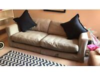 Large French connection for dfs sofa (three seater) price reduced.
