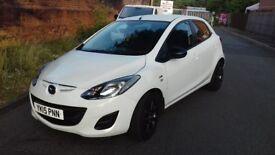 2015 Mazda 2 Low Miles 15.700 WHITE EDITION 1.3 petrol