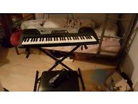 Keyboard With pedal and stool