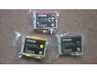 genuine epson printer ink cartridge (yellow, magenta or black) sealed brand new