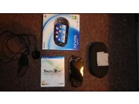 Sony Playstation Vita + 16gb Memory Card + 1 Game + Case