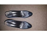 Grey genuine leather shoes