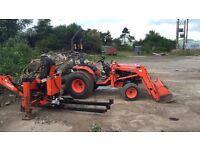 Digger, Kubota B2710 HST tractor loader with Lewis 320S backhoe