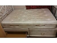 Double bed VICTOREAN ... four drawers with mattress and headboard