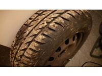 Tyres 185/65 R14 (gislaved) x 4 still on wheels.