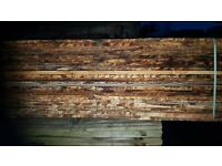 30 waney lap larch 6 to 8 inch wide