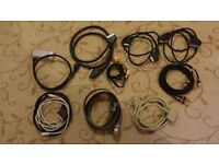Assorted cables for TV, DVD etc