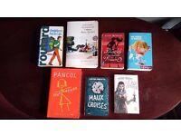 French books bundle -variety: guide, novels, thriller etc