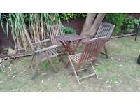 Vintage solid wood chairs and table RRP £199.