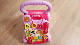 vtech pink baby walker in excellent condition