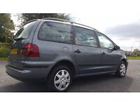 VOLKSWAGEN SHARAN LOW MILEAGE 80K AUTOMATIC,Strong build quality, 7 Seater,Good Condition