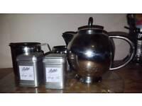 STAINLESS STEEL TEA SET (18/10) - ELIA INTERNATIONAL