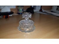 Vintage cut glass pot