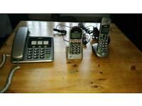 2 binatone home phone and a binatone mobile phone