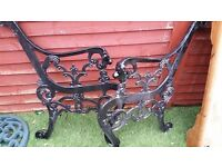 Cast iron heavy lion head garden bench ends